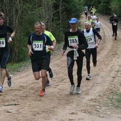 SEB 30. Tartu Jooksumaraton - Jüri Leesmäe (228), Heino Miina (283), Kaupo Tammemäe (494), Andero Sopp (531)