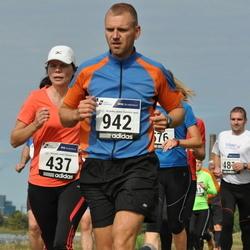 42. jooks ümber Ülemiste järve - Ülle Liiv (437), Ago Võhmar (942)
