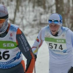 41. Tartu Maraton - Alar Savastver (86), Gunnar Kruus (574)