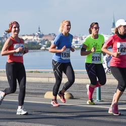 SEB Tallinna Maraton - Mare Padu (1421), Anni Laakso (1536), Anni Liukka (2175)