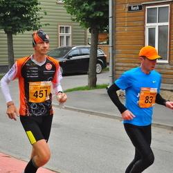 3. Tartu Linnamaraton/Sügisjooks - Heiki Roomet (83), Andris Leja (451)