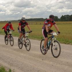 Kalevipoja rattamaraton 2012 - Epp Kuslap (2178), Benno Keskpalu (2197), Andreas Toomik (2230)