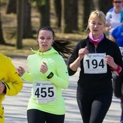 Tartu Parkmetsa jooks - Birgit Lausing (194), Karolyn Rillo (455)