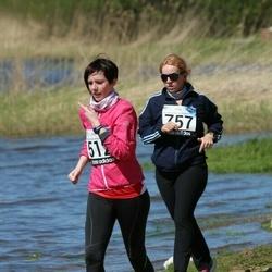 44. jooks ümber Harku järve - Anna-Liisa Pääsukene (512), Liis-Erliken Vinne (757)