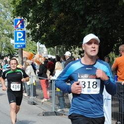 XII Jüri Jaansoni Kahe Silla jooks - Jaanus Grossmann (318), Aron Mitt (416)