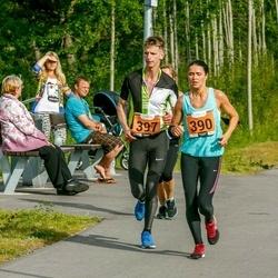 Pärnumaa Võidupüha maraton - Heleri Arula (390), Juhan Paabstel (397)