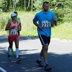 34. jooks ümber Pühajärve - Tarmo Rikkinen (210), Ann-Christine Allik (411)