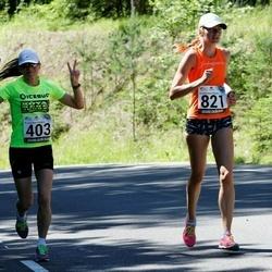 34. jooks ümber Pühajärve - Kaili Vainumaa (403), Triin Andresson (821)