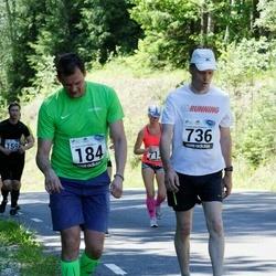 34. jooks ümber Pühajärve - Marko Mägi (184), Ülo Urb (736)