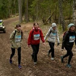 RMK Kõrvemaa Kevadjooks - Enna Audova (2247), Kristi Potter (2509), Birgit Potter (2510), Piret Potter (2511)