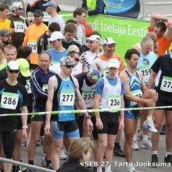 SEB 27. Tartu Jooksumaraton - Magnus Hillermaa (230), Valmer Kolk (233), Aigar Ojaots (258), Jüri Leesmäe (259), Jaak Teppan (273), Viljar Kannimäe (277), Lauri Loodsalu (288)