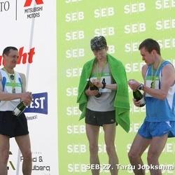 SEB 27. Tartu Jooksumaraton - Vjatsheslav Koshelev (1), Alxsey Markov (8), Yuri Vinogradov (94)