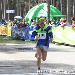 SEB 27. Tartu Jooksumaraton - Vello Lillipuu (358), Aare Kiik (2180)