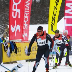 RMK Kõrvemaa Suusamaraton - Ago Teder (246), Melvin Sinirand (247)