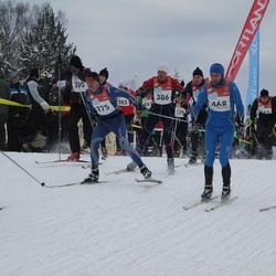RMK Kõrvemaa Suusamaraton - Roland Toome (375), Aare Kuuseoks (386), Ivo Tupits (468)