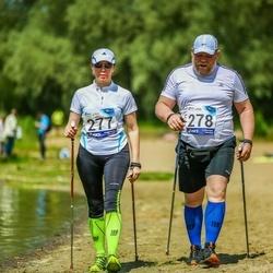 45. jooks ümber Harku järve - Lily Hindrea (277), Ahto Hindrea (278)