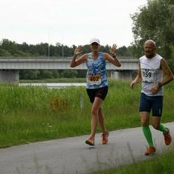 Pärnumaa Võidupüha maraton - Maik Tukk (159), Elise Saarna (402)
