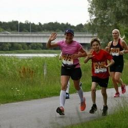 Pärnumaa Võidupüha maraton - Hanna Jeret (243), Moonika Kitt (272), Henrik Johan Kitt (273)