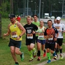 Pärnumaa Võidupüha maraton - Aado Metsis (334), Argo Paavel (364), Pirko Palu (365), Mirtti Verbitskas (451)