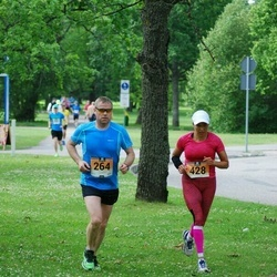 Pärnumaa Võidupüha maraton - Kaido Karjus (264), Anu Taveter (428)