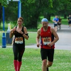 Pärnumaa Võidupüha maraton - Laidy Lainoja (305), Toomas Jürisoo (482)
