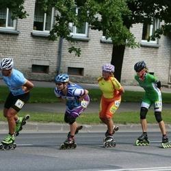 Pärnu Rulluisumaraton - Marko Pukk (81), Ene Ilver (418), Ljudmilla Mastovits (419), Olga Belova (421)