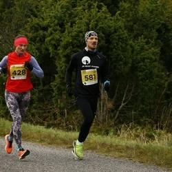 43. Saaremaa kolme päeva jooks - Jaana Leidas-Meerits (428), Taavi Varb (581)