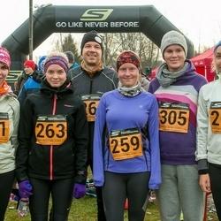 Tartu Novembrijooks - Sigrid Raud (259), Keelia Hallap (260), Maike Meos (261), Hanna-Maria Reinumägi (263), Liina Hellerma (305)