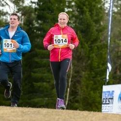 Kõrvemaa Kevadjooks - Elina Leisson (1014), Aare Leisson (1015)