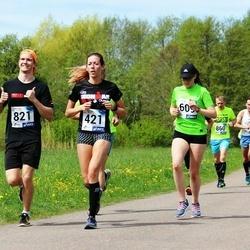 46. jooks ümber Harku järve - Piret Närep (421), Nina Solopaeva (609), Sten-Mark Virro (821)