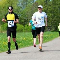 46. jooks ümber Harku järve - Jüri Luhasaar (324), Urmo Merila (363)