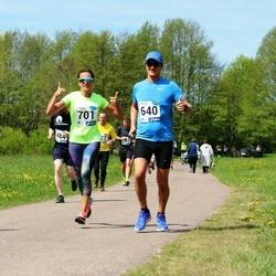 46. jooks ümber Harku järve - Bruno Tammaru (640), Kristina Uibo (701)