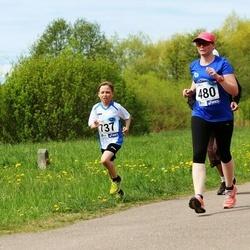 46. jooks ümber Harku järve - Gerli Piik (480), Rigo Vatsel (737)