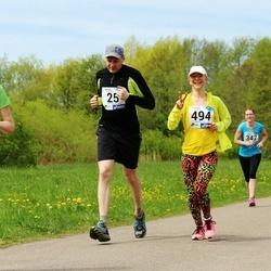 46. jooks ümber Harku järve - Jevgeni Aleksejev (25), Margarita Polokainen (494)