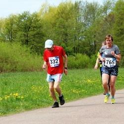 46. jooks ümber Harku järve - Arvo Luus (332), Tiina Voogne (765)