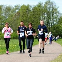 46. jooks ümber Harku järve - Anu Kahar (150), Kaido Kahar (151), Eve Skoglund (608), Meelis Nafthal (868)