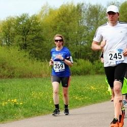46. jooks ümber Harku järve - Toomas Kristin (245), Cia-Helena Meldo (359)