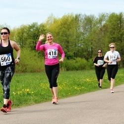 46. jooks ümber Harku järve - Marge Noot (418), Marina Rudõk (560)