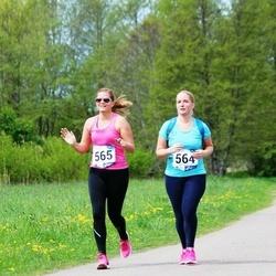 46. jooks ümber Harku järve - Elora Rämmal (564), Triina-Helena Rämmal (565)