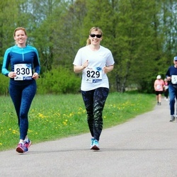 46. jooks ümber Harku järve - Laura Karindi (829), Liisi Karindi (830)