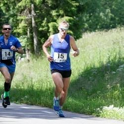36. jooks ümber Pühajärve - Ain Kilk (14), Kait Vahter (15)