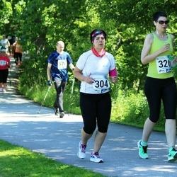 36. jooks ümber Pühajärve - Karoliina Kiik (304), Kristi Malm (320)
