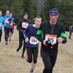 RMK Kõrvemaa Kevadjooks - Ingmar Vutt (85), Andre Lomaka (292), Ahto Ahven (385)