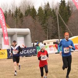 RMK Kõrvemaa Kevadjooks - Merilin Jürisaar (40), Meelis Jürisaar (73), Aare Aan (420)