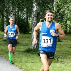 45. jooks ümber Ülemiste järve - Urmo Kallakas (216), Ahto Tatter (331)