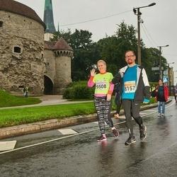 SEB Tallinna Maratoni Sügisjooks 10 km - Aare Lapõnin (8157), Karin Kaup (9508)
