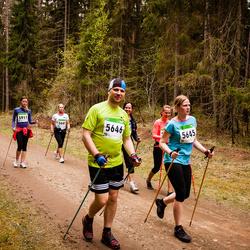 SEB 31. Tartu Jooksumaraton - Berit Kroon (5645), Hanno Kroon (5646), Maarja Sikk (5911)