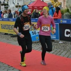 6. Tartu Linnamaraton - Girts Bulans (305), Zane Bulane (306)