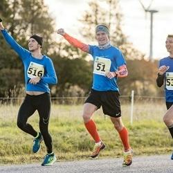 44. Saaremaa kolme päeva jooks - Mardo Lundver (51), Margus Hanni (516), Aaron Kais (531)