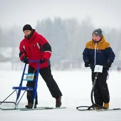 III Pühajärve matkamaraton tõukekelkudel - Andero Ojamets (13), Antti Ojamets (48)